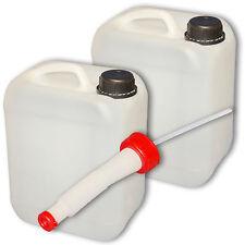 2er Pack 5 Liter Wasserkanister natur mit Plastikdeckel mit Ausgie�Ÿer flexibel