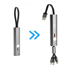Portable Retractable USB Charger Cable 3in1 Multiple Fast Charging Cord Adapter