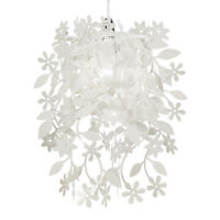 White Shabby n Chic Floral Ceiling Pendant Light Lamp Shade Chandelier Lampshade