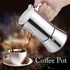 4 Cup Stainless Steel Stovetop Espresso Coffee Maker Percolator Pot Moka Tool