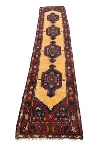 Vintage Afghan Runner Rug, Turkish Rug, Turkoman Rug, Hand Knotted Sheraz Rug.