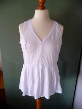 BNWT NEXT White V-Neck Sleeveless Summer Top Size 16