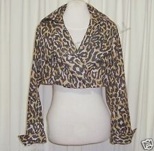 "GORGEOUS SASS&BIDE LEOPARD PRINT CROPPED JACKET 44/8 (AUS 14) ""THE TABOO"""