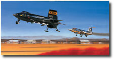 First Re-Entry by Mike Machat - North American X-15 - Joe Engle - Aviation Art