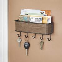 Key Rack Letter Holder Wall Mount Hanger Mail Organizer Storage Entryway Home