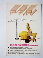 CEMENT MIXER CONSTRUCTION SITE PORTUGAL POCKET CALENDAR CARD