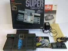 NEC PC Engine SuperGrafx(TurboGrafx-16)Console,pad,AV cable,PSU,Manual,Boxed-I2