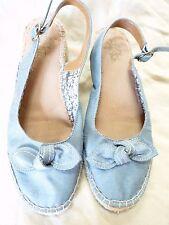 LifeStride Blue Fabric Sandal Flats with Belt Heel strap size 9M