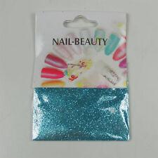 *** (0,68€/1g) 1,5 g Glitter Glitzer Nailglitter - Türkis Blau - für Nailart
