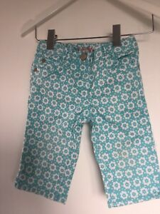 Pretty Turquoise Floral Mini Boden Shorts - 2 Years - Excellent Condition