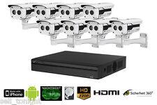 HDCVI Videoüberwachung SET Überwachungssystem in HD, 2TB, 8x Überwachungskamera!
