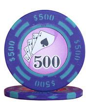 50pcs 14g Yin Yang Casino Table Clay Poker Chips $500