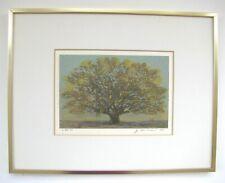 "Joichi Hoshi - ""Great Tree (Small)"" - Beautiful 1975 Woodblock Print"