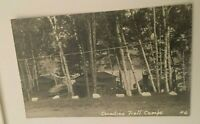 RPPC Wyman Dam Lake Canadian Trail Camps Unposted Real Photo Postcard