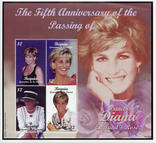 Bequia Grenadines St Vincent Royalty Stamps 2003 MNH Princess Diana 4v M/S