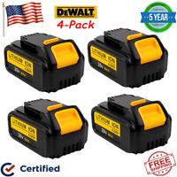 4X For DEWALT DCB204-2 20V Max 4Ah 20Volt XR Lithium-Ion Battery DCB200 DCB205