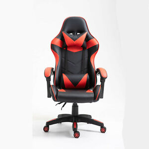 Computer PC Gaming Chair Office Adjustable Chair Black Red Chair Modern Chair