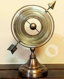11'' Antique Arrow Armillary Sphere Astrolabe Nautical Vintage Brass Home Decor