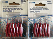 2 Packs of 6 INTERDENTAL BRUSHES RED 0.5mm Dental  Floss Flossing Tooth Teeth