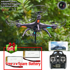 X5SW-1 WIFI Camera Drone FPV 2.4Ghz 4CH 6-Axis RC Quadcopter HD RTF+2x Battery