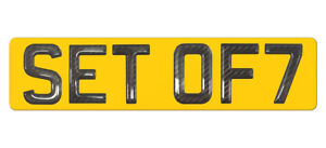 ONE Set of 7 Gel Ltd Ed CARBON Number Plate Digits (Plates not included) 7 ONLY