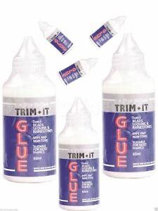 3 x Hi Tack Trim It Glue Fine Tip Bonds BeadsSequins Rhinestones Fabric Suitable