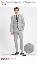 Banana Republic Slim Flannel Suit Jacket in Responsible Wool. Size 36R MSRP $298