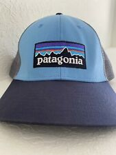Patagonia Mountains Blue Used Rare Trucker Cap Snapback