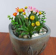Blossom Cactus Artificial Succulents Plants (set of 9)
