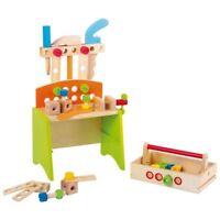 Tavolo-banco da lavoro in legno DELUXE giocattolo per bambini