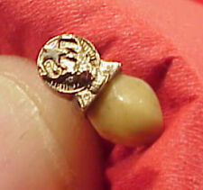 SMALL 7/16in Fraternal BPOE ELKS TOOTH Lodge Yellow Gold Lapel Tie Pin Button