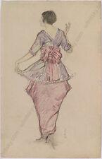 "Hans Strohofer ""Portrait of Vienna Female Artist Mela Koehler"", Drawing, 1913"
