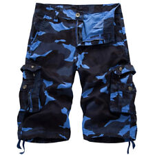Mens Jeans Casual Camo Military Army Cargo Combat Solid Work Shorts US Seller