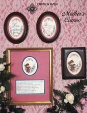 Cross N Patch MOTHER'S CAMEO in Counted Cross Stitch Leaflet 1984 Pattern