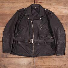 """Da Uomo Vintage Schott Perfecto In Pelle Nera Giacca Biker XXL 54"""" R6470"""