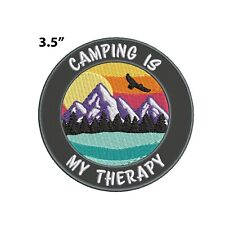New ListingCamping Is My Therapy Embroidered Patch Iron-on / Sew-on Nature Lover Applique