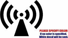 RADIO TOWER Wifi Symbol Funny Vinyl Decal Sticker Car Window Bumper Laptop 9""