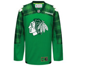 NHL Chicago Blackhawks St Patrick's Day Hockey Jersey New Youth Sizes
