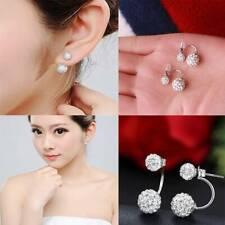 Double Side Stud Earrings Crystal Disco Ball Earrings Women Jewelry Earings S