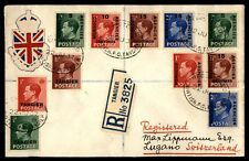 Morocco Agencies 1937 Multifranked Registered Cover to Switzerland Lugano
