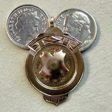 9ct gold second hand old rose gold medal
