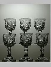 More details for brier crystal cut glass set of 6 liqueur glasses 4