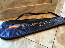 "Feather Squash Racquet Bag Case Cover With Strap Blue 27"" X 9"""