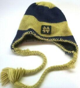 Columbia-Winter Sherpa Beanie Cap Hat w/ Norte Dame Logo & Colors, Insulated