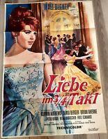 Filmplakat: Liebe im 3/4-Takt  Kerwin Mathews · Senta Berger · Brian Aherne