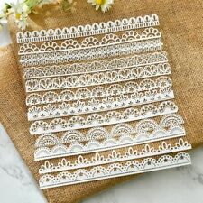 Paper White Lace 12 Cuts Stencils Cutting Scrapbooking Embossing DIY Craft Dies