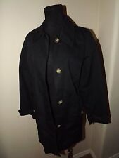 BLACK** Old Navy Short Trench Coat Women Sz Med - 100% COTTON -