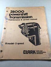 Clark 28000 Powershift  Transmission Maintenance & Service Manual