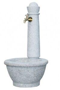 Steinbrunnen Garantia Rome Puit de Jardin Fontaine Décorée Fontaine Gris