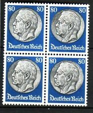 GERMANY Sc 413 BLOCK OF 4 OF 1933 - HINDENBURG - 2 TOP VAL LH/2 NH